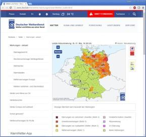 Unwetterwarnung (Deutscher Wetterdienst)