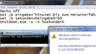 Windows 7/8/10: Automatisch herunterfahren©COMPUTER BILD