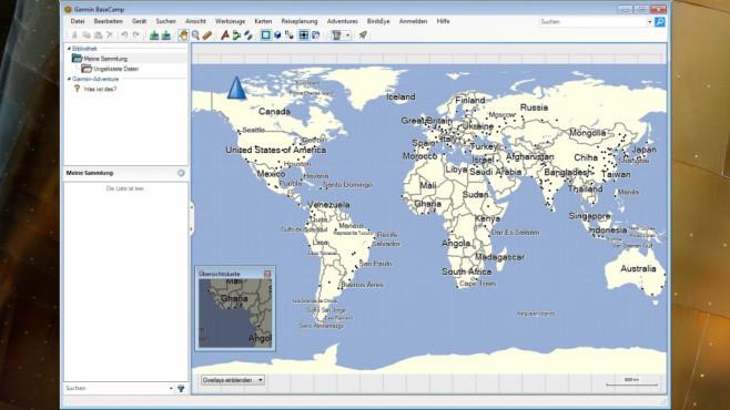 BaseCamp: Touren für GPS-Gerät planen ©COMPUTER BILD