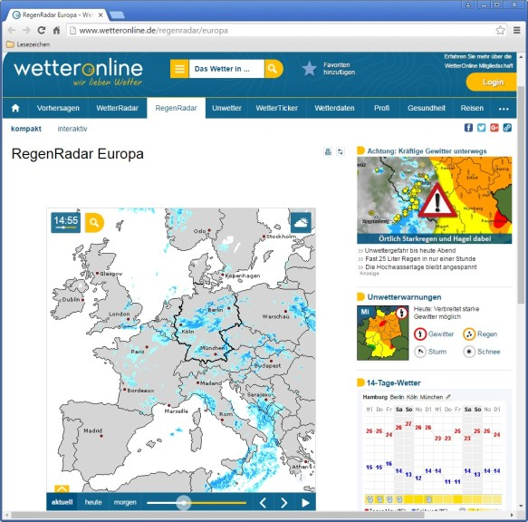 Wetter T Online Regenradar