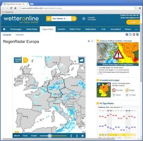 RegenRadar Europa (WetterOnline)