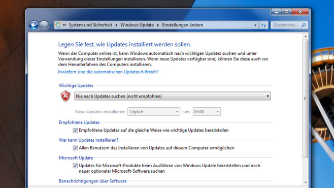 Automatische Updates deaktivieren ©COMPUTER BILD