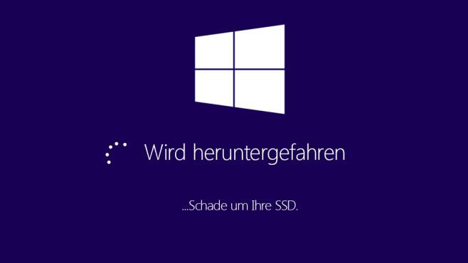 Windows 8.1 oder Windows 10 herunterfahren ©COMPUTER BILD