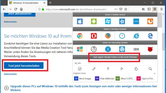 Windows-ISO von Microsoft-Webseite downloaden ©COMPUTER BILD