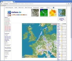 Europäisches Niederschlagsradar