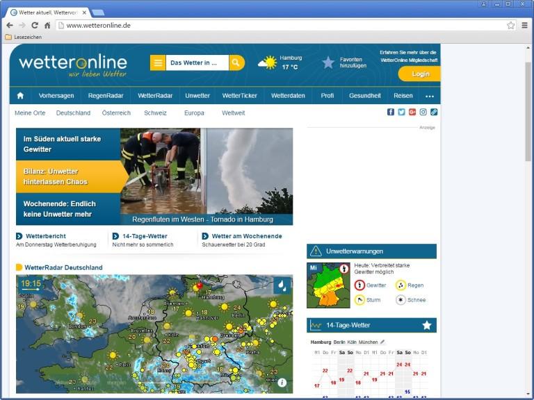 Screenshot 1 - WetterOnline.de