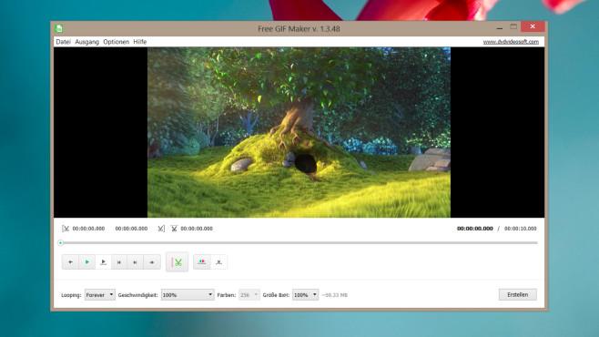 GIFs erstellen: So erzeugen Sie animierte GIF-Dateien unter Windows Der Free GIF Maker erstellt aus Videos GIFs – Material zu importieren und zu speichern, genügt.©COMPUTER BILD