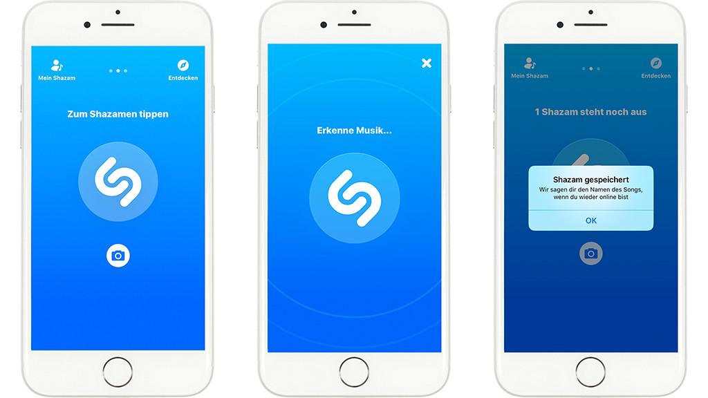 Shazam im hintergrund iphone
