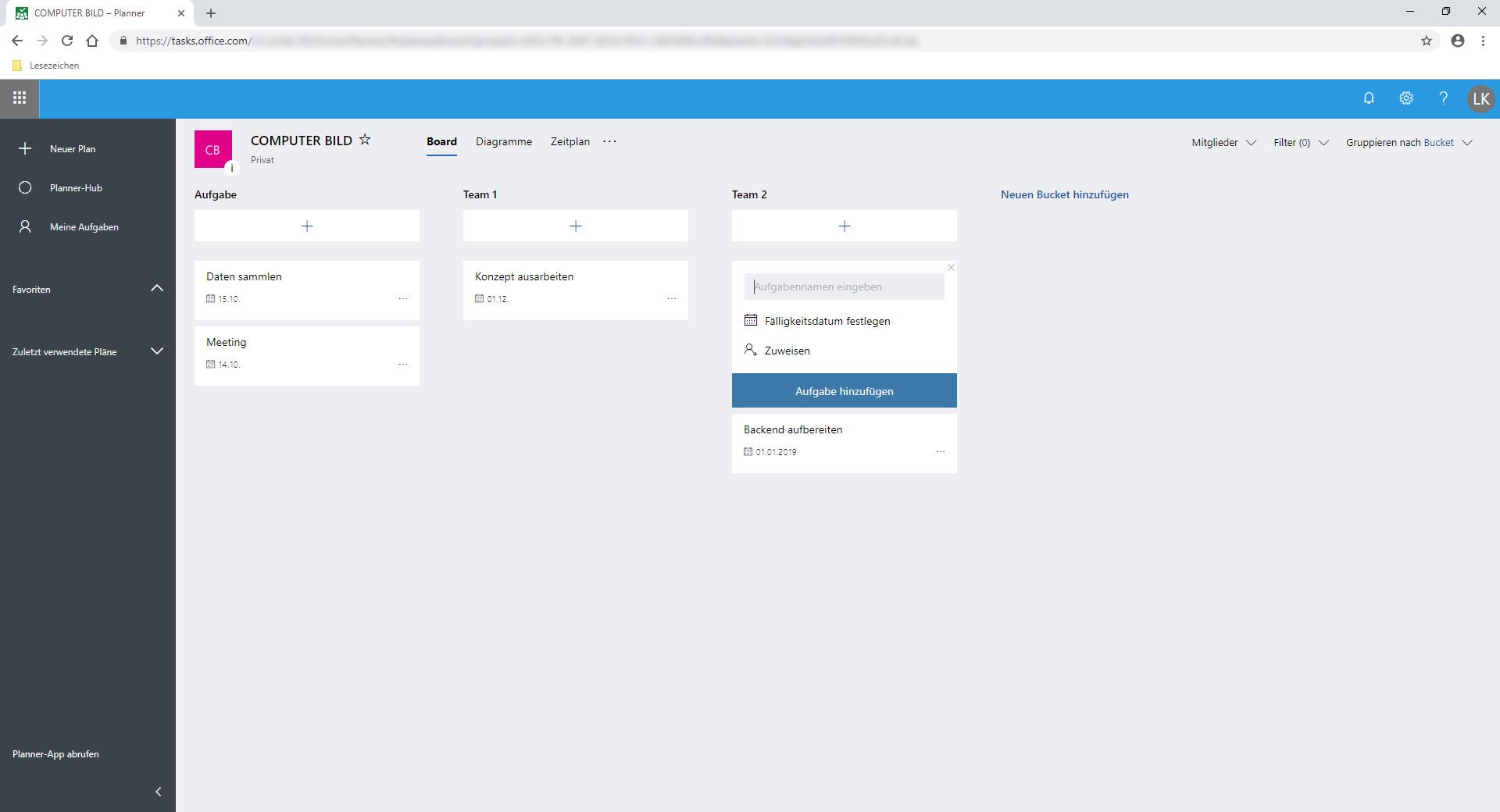 Screenshot 1 - Microsoft Planner
