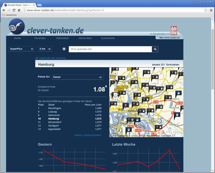 Screenshot 1 - Clever tanken