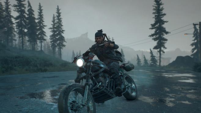 Days Gone: Die Vorschau Deacons Bike ist überlebenswichtig. Dementsprechend muss er darauf aufpassen.©Sony
