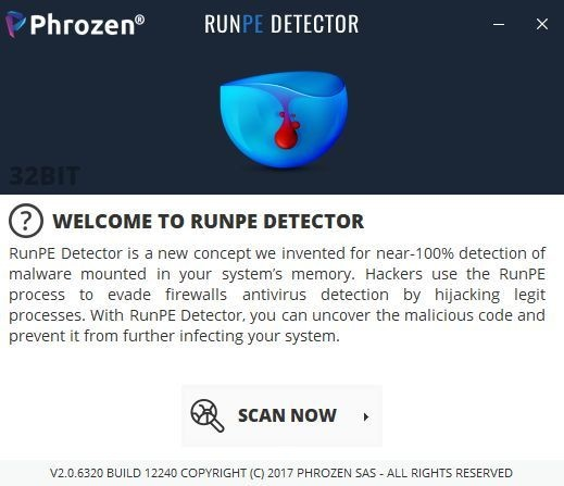 Screenshot 1 - RunPE Detector
