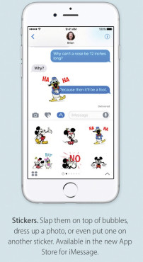 iMessage mit Stockern © Apple/Screenshot: COMPUTER BILD