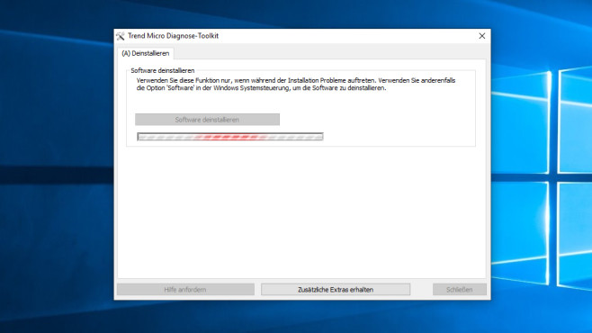 Trend Micro Remnant File Remover Tool ©COMPUTER BILD
