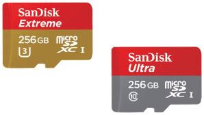 SanDisks neue microSD-Speicherkarten©SanDisk