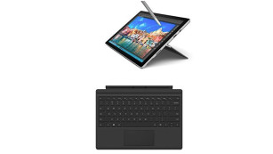 Set Microsoft Surface Pro 4 31,24 cm (12,3 Zoll) Tablet-PC (Intel Core i5, 4GB RAM, 128 GB, Intel HD Graphics, Windows 10 Pro) + Microsoft QC7-00022 Surface Pro 4 Type Cover schwarz © Amazon