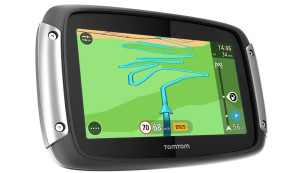 TomTom Rider 400 Motorradnavigationsgerät (10,9 cm (4,3 Zoll) Display, Free Lifetime Map, Europa 45, kurvenreiche Strecke, Lifetime TomTom Traffic) schwarz © Amazon