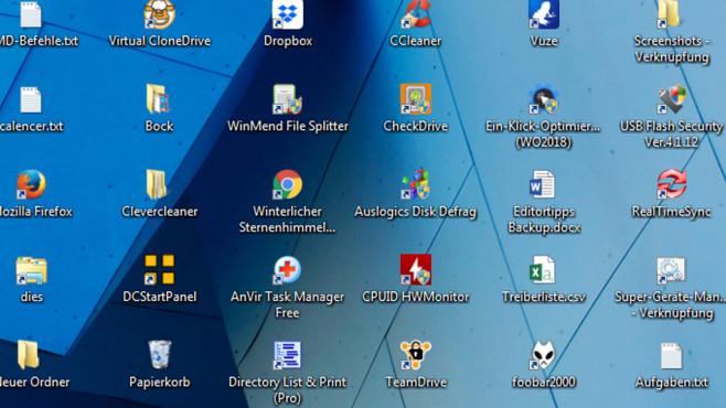 Desktop-Symbole vergrößern oder verkleinern ©COMPUTER BILD