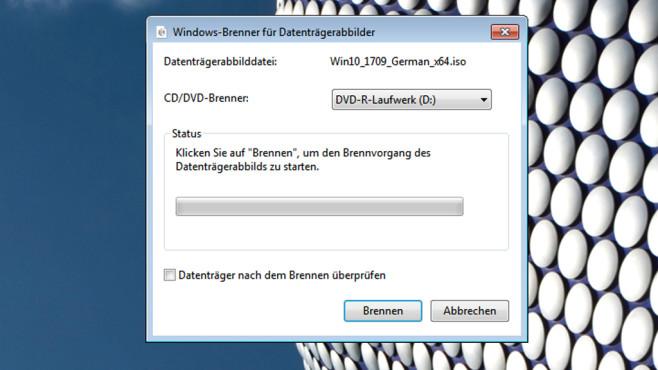 ISO-Dateien per Kontextmenü brennen ©COMPUTER BILD