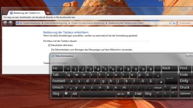 Tippen per Maus / Klicken per Tastatur ©COPUTER BILD