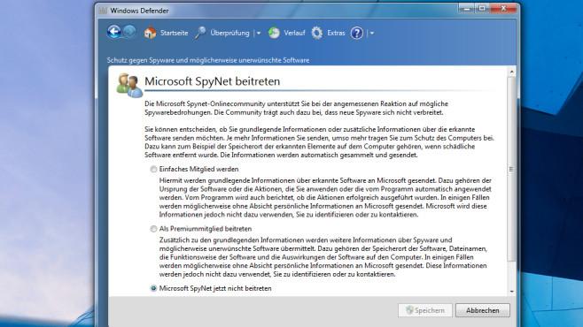 Windows Defender: Aus dem SpyNet austreten ©COMPUTER BILD