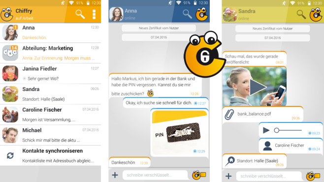 Chiffry Secure Messenger ©Chiffry GmbH