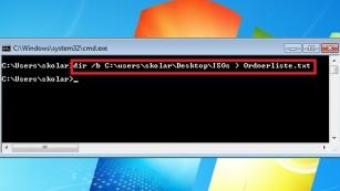 Windows 7/8/10: Ordnerinhalt als Liste speichern und drucken©COMPUTER BILD