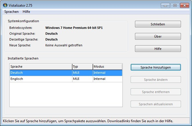 Screenshot 1 - Vistalizator