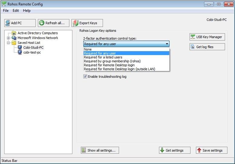 Screenshot 1 - Rohos Management Tools