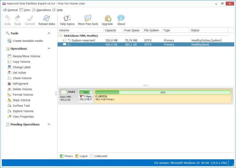 Screenshot 1 - Macrorit Disk Partition Expert
