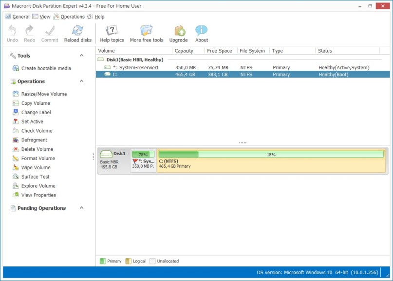 Screenshot 1 - Macrorit Disk Partition Expert Portable