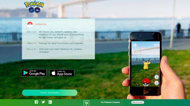 Pokemon GO © pokemongo.nianticlabs.com/de