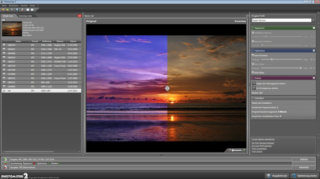 Screenshot 1 - Photomizer 2 – Kostenlose Vollversion