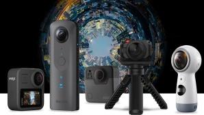 360 Grad Kameras©iStock.com/metamorworks, Samsung, GoPro, Ricoh, Garmin