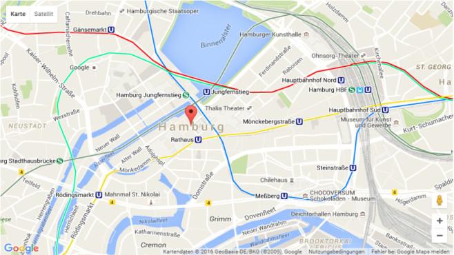 Nahverkehr in Google Maps©Google