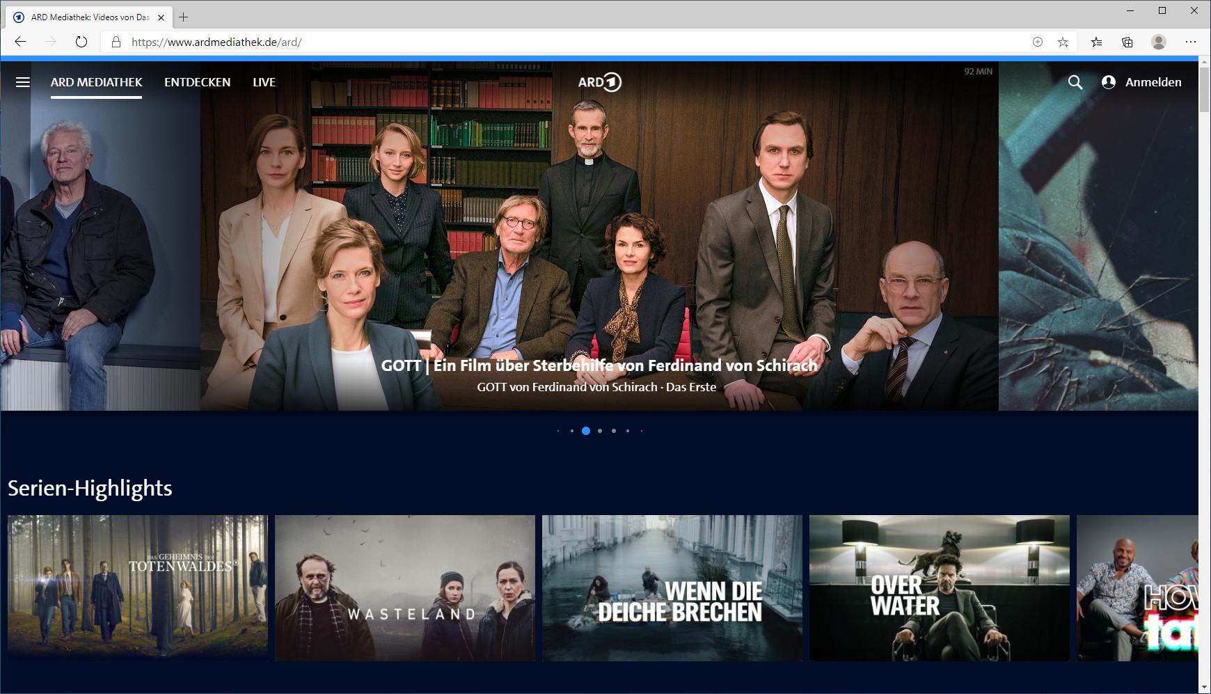 Screenshot 1 - ARD-Mediathek
