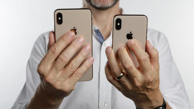 Apple iPhone XS Max und iPhone XS: Größenvergleich©COMPUTER BILD