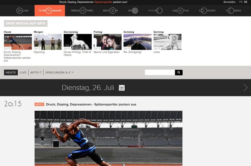 Screenshot 1 - Arte-Mediathek