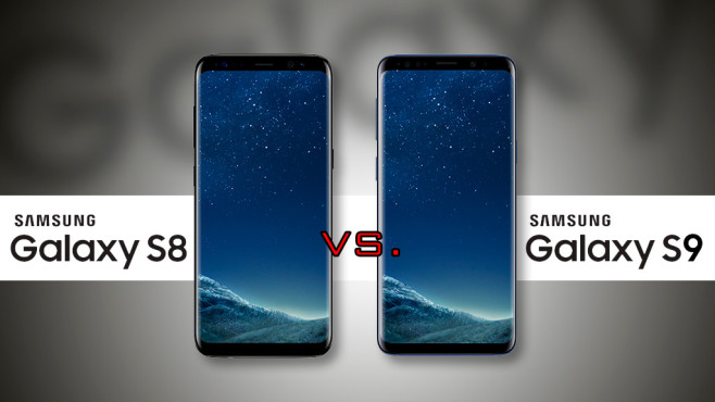 Samsung Galaxy S8 versus S9©Samsung