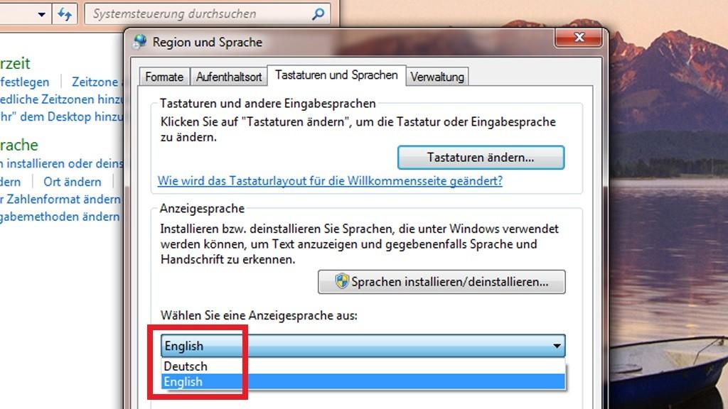 windows 7 sprache installieren