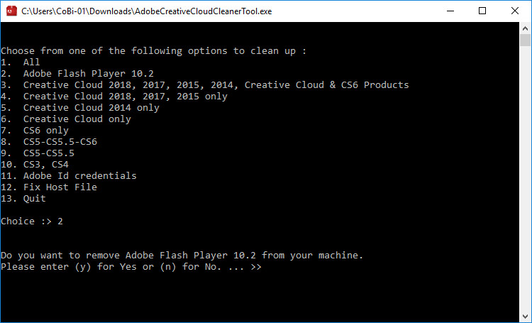 Screenshot 1 - Adobe CC Cleaner Tool