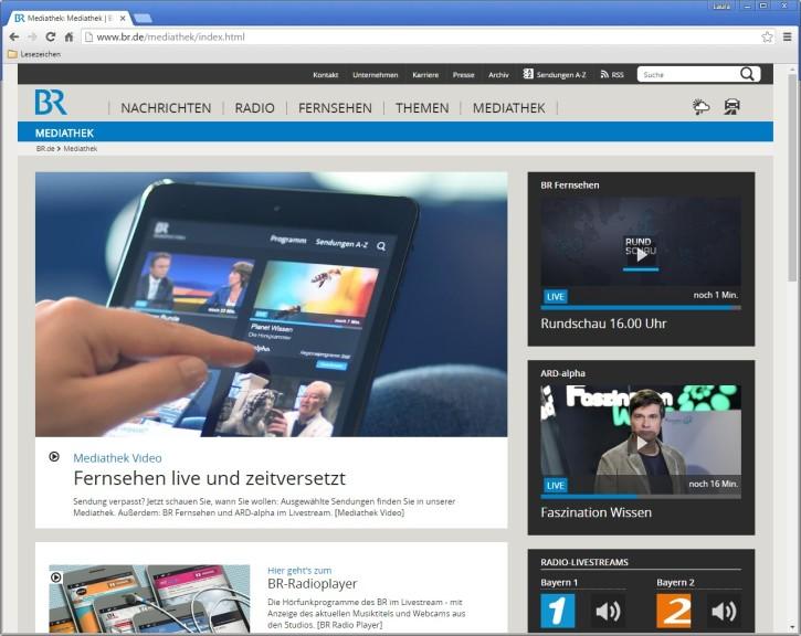 Screenshot 1 - BR-Mediathek
