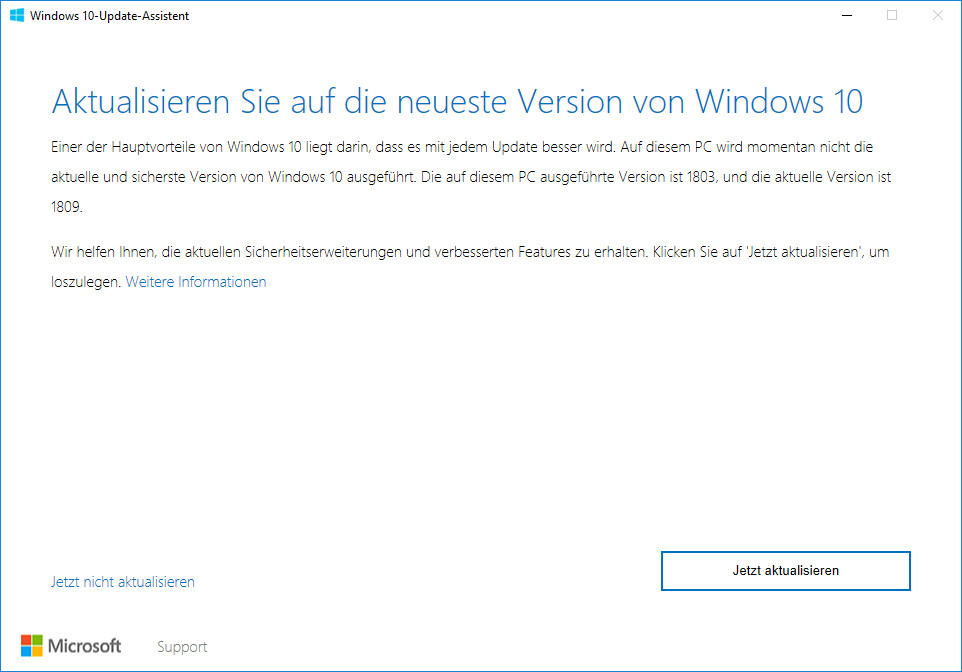 Screenshot 1 - Windows 10 Update Assistent