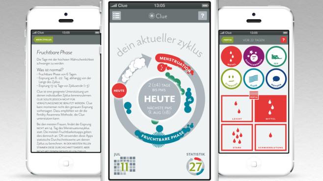 """Zyklus-App: den eigenen Körper besser verstehen mit """"Clue""""©BioWink GmbH"""