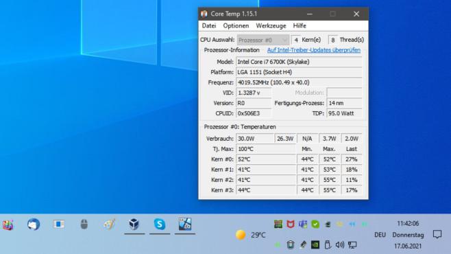 CPU-Temperatur mit Core Temp überwachen©COMPUTER BILD