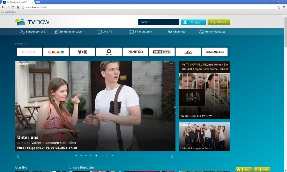 Screenshot 1 - RTL-Mediathek (TV Now)