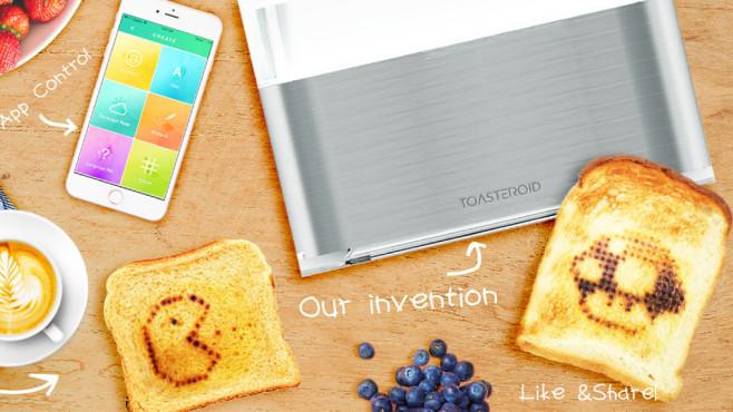 Smarter Toaster röstet Nachrichten©Screenshot: https://toasteroid.com/
