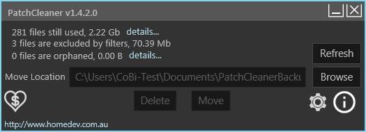 Screenshot 1 - PatchCleaner