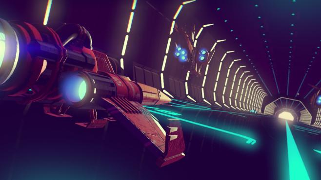 """No Man's Sky: Alles zu Raumschiffen Vor allem in Raumstationen finden Sie in """"No Man's Sky"""" schnell neue Schiffe, allerdings sind diese nicht grade günstig.©Hello Games/Sony"""