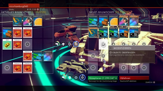 Material transferieren © Hello Games/ Sony